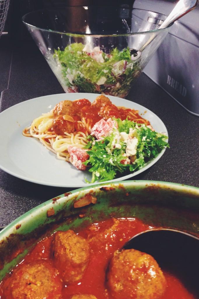 Spagetti och lihapullat ala E