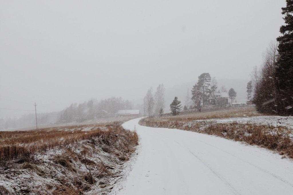 Mouhijärvi lumisade